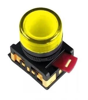 Индикатор AL-22TE Ø22мм (желтый неон) IEK (10/300)