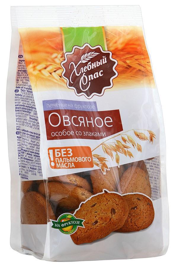 Печенье Хлебный Спас Овсяное особое со злаками на фруктозе