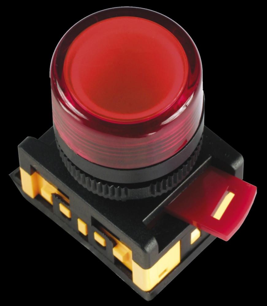 Индикатор AL-22TE Ø22мм (красный неон) IEK