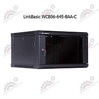 """Шкаф телекоммуникационный 19"""" LinkBasic настенный 6U, 600*450*367, цвет чёрный, передняя дверь стеклянная"""