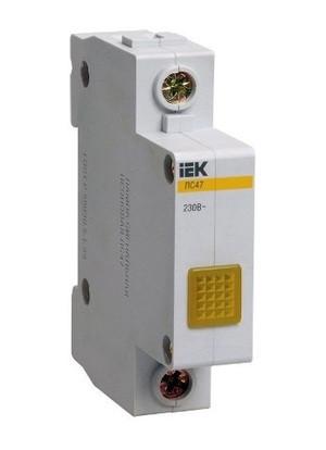 Сигнальная лампа ЛС-47 (желтый неон) IEK (12/240)