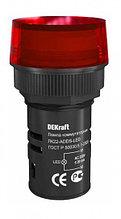 Индикатор ADDS ЛК-22 мм красный LED 220В  (12)  DEKraft NEW