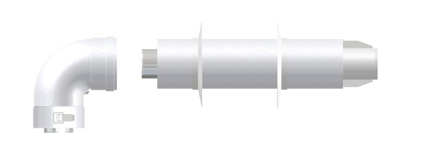 Коаксиальная дымовая труба 60\100 Termica, KIT05DA, фото 2