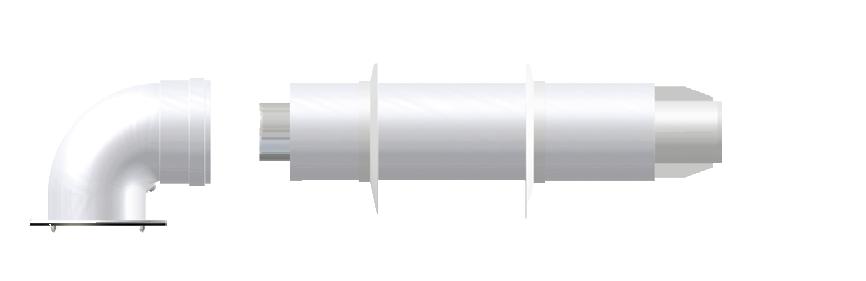 Коаксиальная дымовая труба 60\100 Termica, KIT22S, фото 2