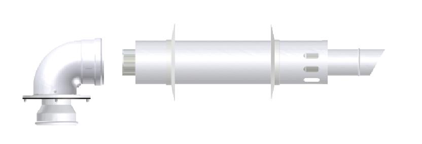 Коаксиальная дымовая труба 60\100 Termica, KIT23A, фото 2