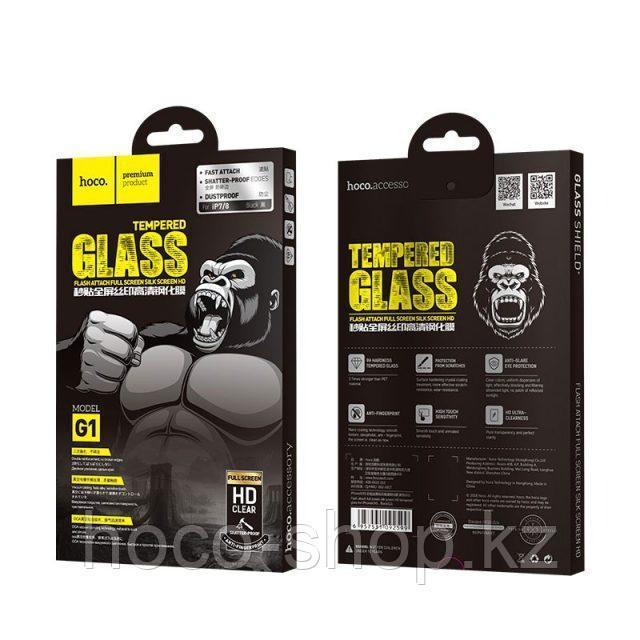 Flash attach G1 полноэкранное HD закаленное стекло для iPhone 7/8 black - фото 7