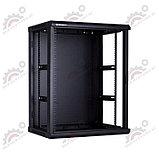 LinkBasic WCB18-66-BAA-C Шкаф настенный 18U, 600*600*901, цвет чёрный, передняя дверь стеклянная, фото 2