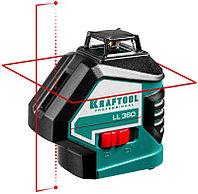 """Нивелир лазерный """"LL360-4"""", 360 градусов, 20м / 70м (детектор), сверхъяркий, KRAFTOOL 34645-4, фото 1"""