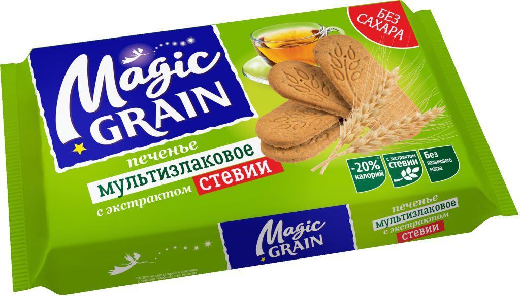 Печенье мультизлаковое Magic Grain с экстрактом стевии