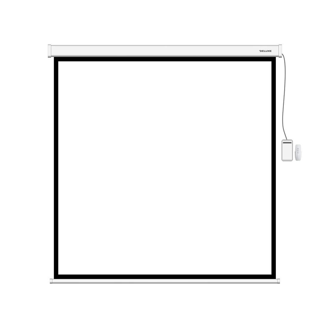"Экран моторизированный (с пультом Д/У) Deluxe DLS-ERC203x153W (80""х60""), Ø - 100"", 4:3"