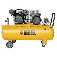 Компрессор DRV2200/100 масляный ременный 10 бар произв. 440 л/м мощность 2,2 кВт// Denzel