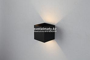 Настенный светодиодный светильник Черный куб