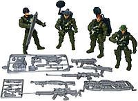 986-1 Солдаты с оружием и экипировкой 28-22см, фото 1