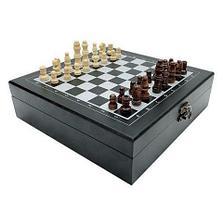 Подарочный набор: шахматы, покер, домино «Заядлый игрок» в деревянном кейсе (Шахматы и Домино), фото 3