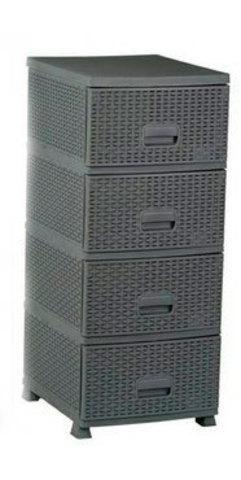 Комод универсальный «Плетеный» 4-х секционный Patisson (Серый)