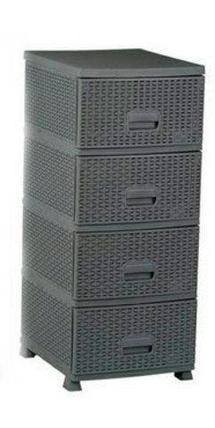 Комод универсальный «Плетеный» 4-х секционный Patisson (Серый), фото 2