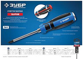 Отвертка ударная, сквозной Cr-V стержень, PH1 x 75 мм, усилитель под ключ, магнитный наконечник, фото 2
