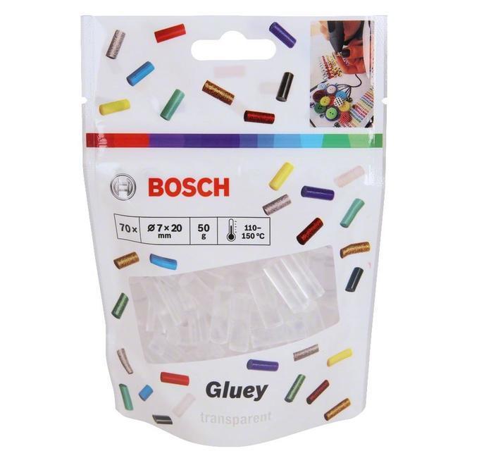 Клевые стержни GLUEY ПРОЗРАЧНЫЕ 70 ШТ Bosch (2608002004)