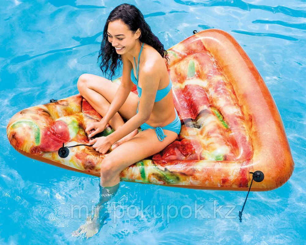 """Пляжный надувной матрас """"Пицца"""" Intex 58752, 175x145 см."""