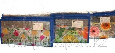 Пляжный складной соломенный коврик-сумка с Фольгой 150*90 см