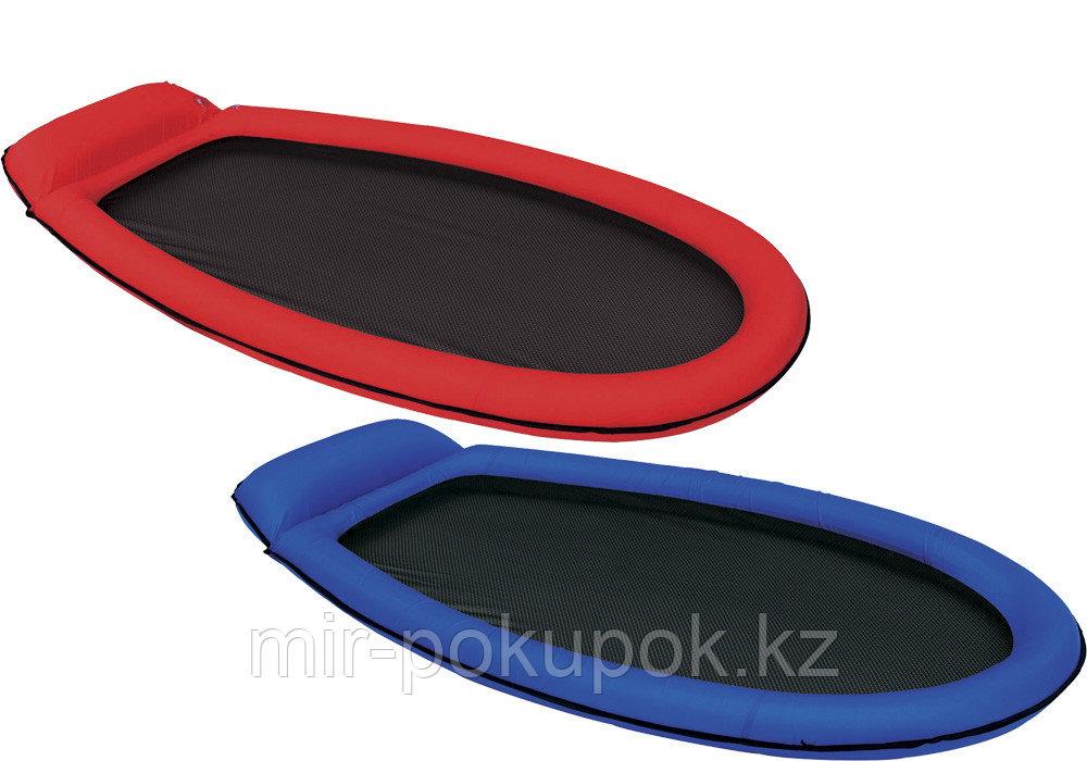 Пляжный надувной сеточный матрас Intex 58836, синий, красный (надувной шезлонг для плавания) 178*94 см