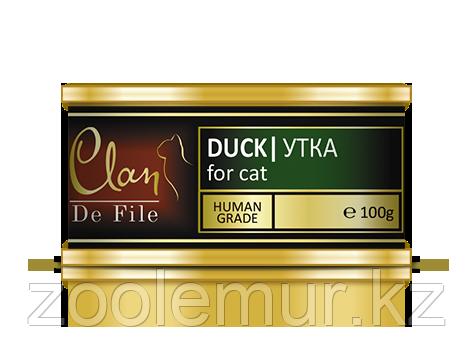 Clan De File консервы для кошек (с уткой) 100 гр.