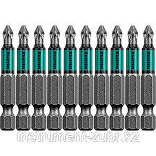 "Биты, PZ3, 50 мм, Optimum Line, тип хвостовика E 1/4"", 10 шт в блистере, KRAFTOOL, фото 2"