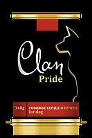 Clan Pride консервы для собак (говяжье сердце и печень) 340 гр.