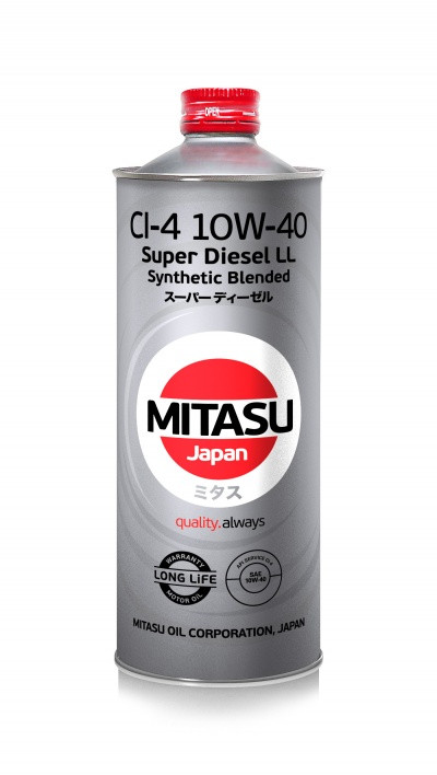 Моторное масло Mitasu Super Diesel CI-4 10W-40 Synthetic Blended 1L