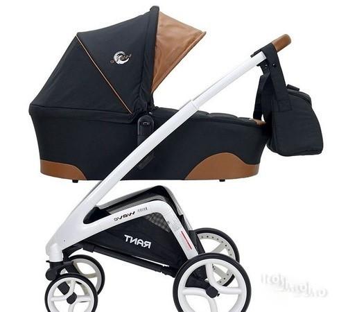 Детская коляска 2 в 1 Rant Wave A056 Alu black