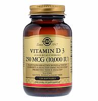 Витамин Д 3, 10 000 МЕ, Солгар 120 таблеток, фото 1