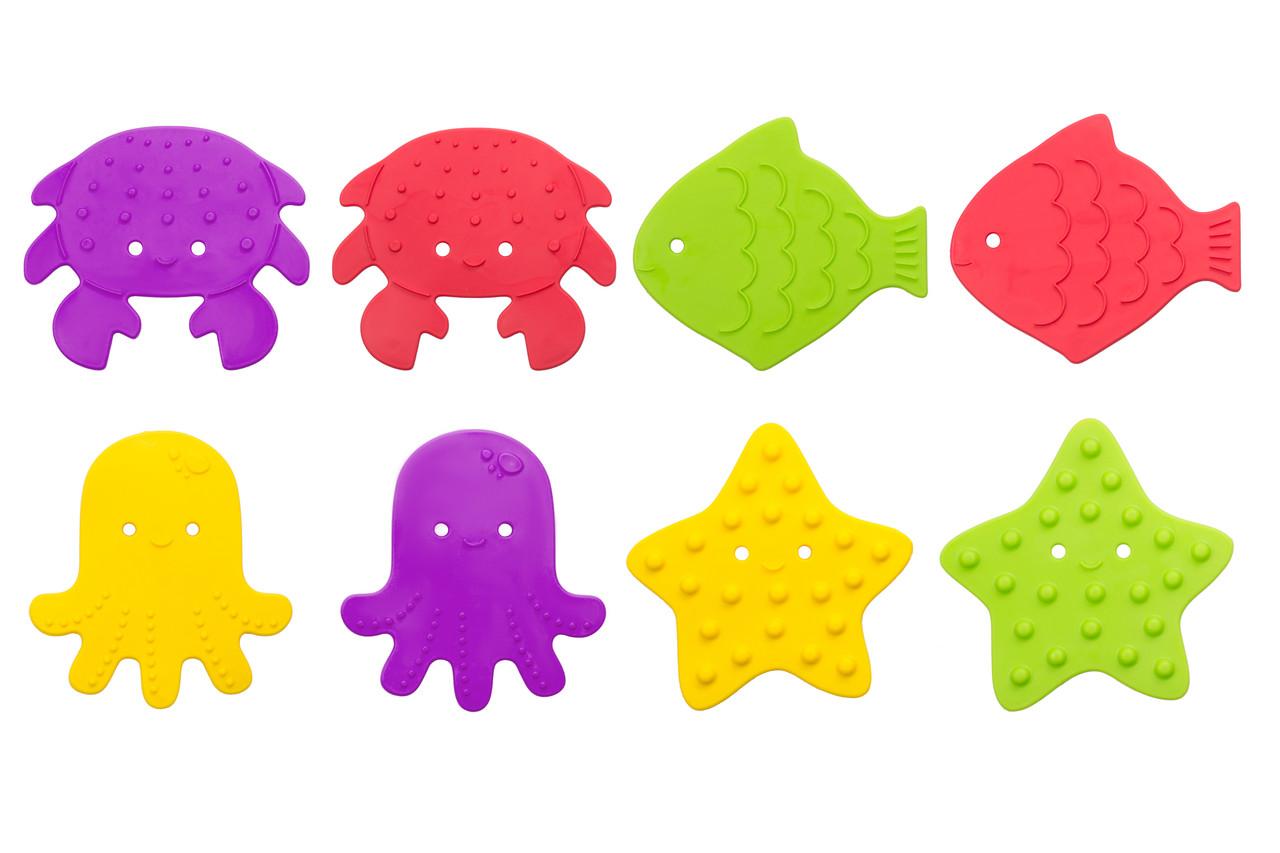 Антискользящие мини-коврики ROXY-KIDS для ванны. Цвета в ассортименте. 12 шт. - фото 2