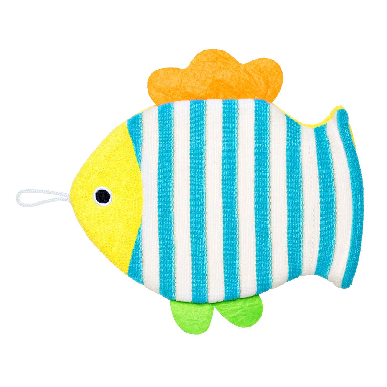 Махровая мочалка-рукавичка «Рыбка» - фото 3
