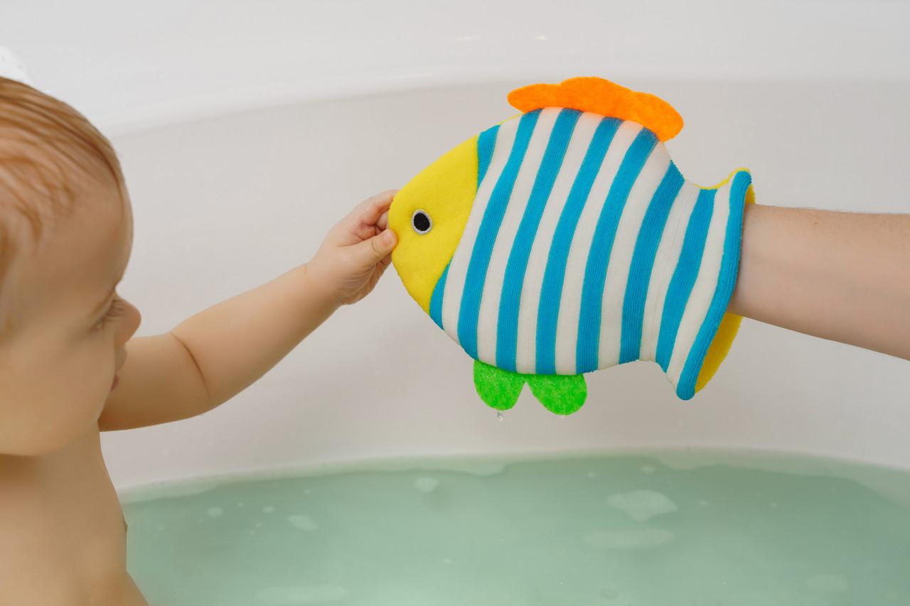 Махровая мочалка-рукавичка «Рыбка» - фото 5
