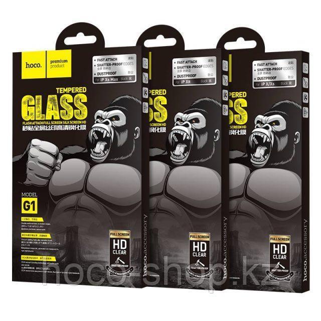 Flash attach G1 полноэкранное HD закаленное стекло для iPhone XsMax Black - фото 5