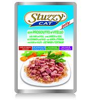 STUZZYCAT - для кошек (с Ветчиной и Телятиной в желе) 100гр.