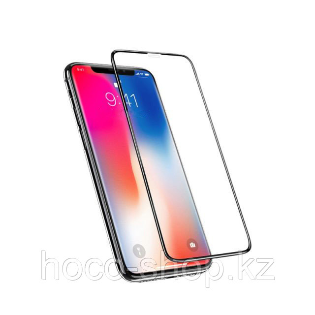 Защитное стекло для iPhone Xs Max Hoco G2 anti-shock soft, чёрное