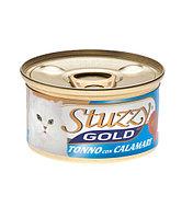 Stuzzy Gold консервы для кошек (кусочки тунца с кальмарами в собственном соку) 85 гр.
