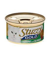 Stuzzy Gold консервы для кошек (кусочки сардин с кальмарами в собственном соку) 85 гр.