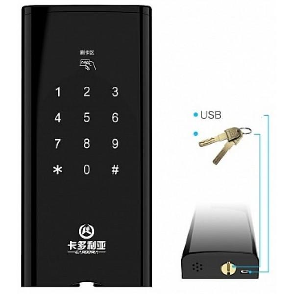 Врезной электронный биометрический кодовый замок на дверь Selock FP