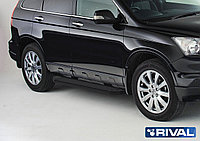 "Пороги на Honda CR-V 2007-2012  ""Premium-Black"""