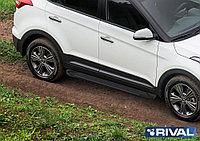 "Пороги на Hyundai Creta 2016- ""Black"""
