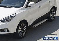 """Пороги на Hyundai IX35 2010-2013-2015 """"Silver"""""""