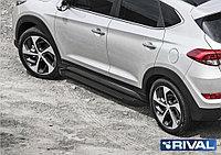 "Пороги на Hyundai Tucson 2015-  ""Black"""