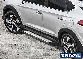 """Пороги на Hyundai Tucson 2015-  """"Silver"""""""