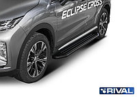 "Пороги на Mitsubishi Eclipse Cross 2018- ""Premium-Black"""