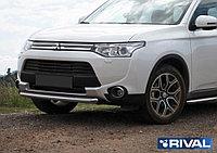 Защита переднего бампера Mitsubishi Outlander 2012-2014 d57