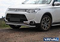 Защита переднего бампера Mitsubishi Outlander 2012-2014 d57 волна