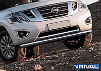 Защита переднего бампера Nissan Patrol 2014- d76+d57
