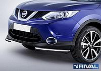 Защита переднего бампера Nissan Qashqai 2013- d57 уголки